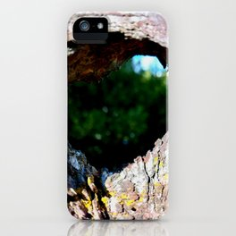 Looking Through Holes iPhone Case