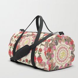 Sloth Yoga Floral Medallion Duffle Bag