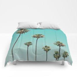 palm trees. las palmeras Comforters