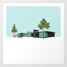Mid Century House Art Print