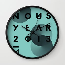 HAPPY NOUS YEAR Wall Clock