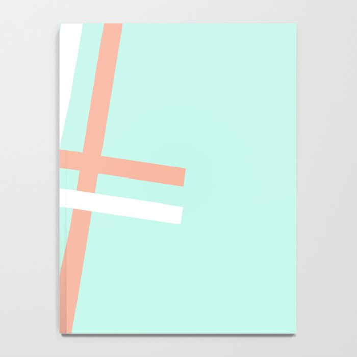 Turquoise & Coral (4) Notebook