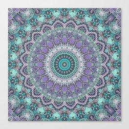 Vintage Lace Mandala Canvas Print