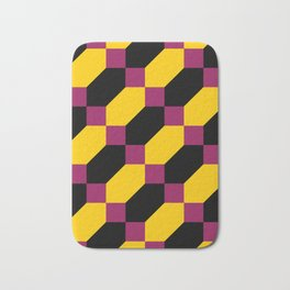 Polygons and squares. Simple. I thought about a chainmail, don't know why. Bath Mat