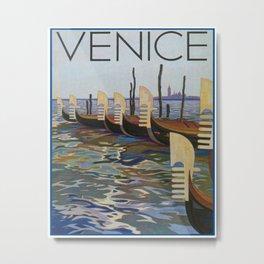 Venice, Italy Vintage Travel Poster Metal Print