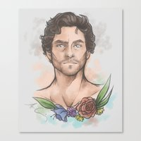 will graham Canvas Prints featuring Will Graham by skullfricked