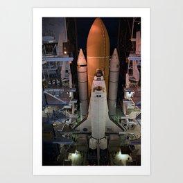 665. Space Shuttle Atlantis Art Print