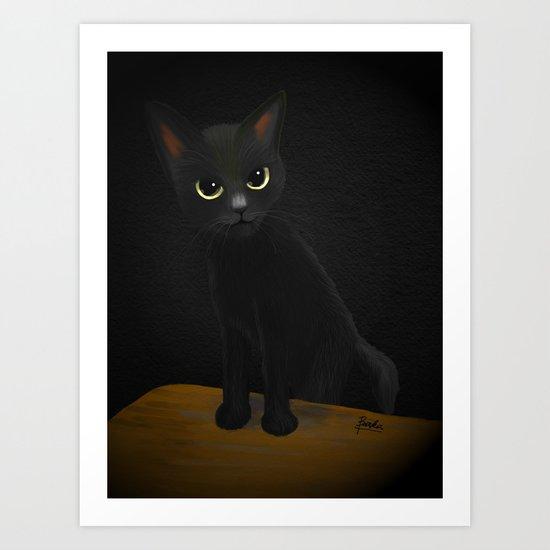 Dark and black Art Print