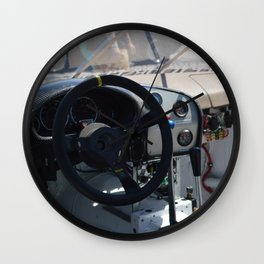 Inside the race car Wall Clock