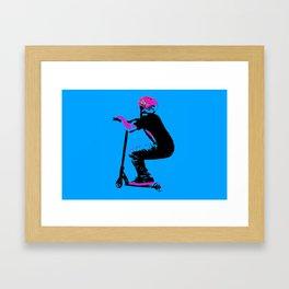 Scooter Cruiser - Scooter Boy Framed Art Print