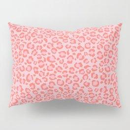 Coral Leopard Print - Living Coral design | Girly Pastel Cheetah Pillow Sham
