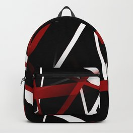Seamless Red and White Stripes on A Black Background Backpack