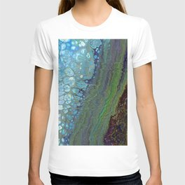 Age And Beauty - Original, abstract, fluid, marbled painting T-shirt