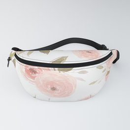 Peachy Floral Watercolor Fanny Pack