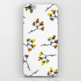 Berry Christmas Pattern, white background iPhone Skin