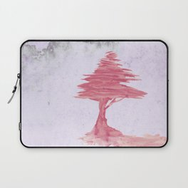 Red Tree watercolor on old paper Laptop Sleeve