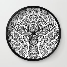 Deer Mandala Wall Clock