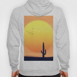 Desert Landscape setting sun. Hoody
