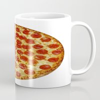 pizza Mugs featuring Pizza by I Love Decor