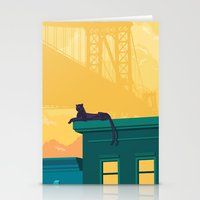 urban Stationery Cards featuring Urban jaguar by Roland Banrevi