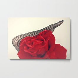 She's a Lady - Surreal Rose Portrait with Sexy Legs Metal Print