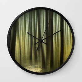 The Golden Forest Wall Clock