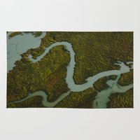 looking for alaska Area & Throw Rugs featuring Alaska Streams by Andy Barron