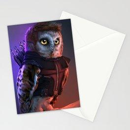 the Owlvengers - hawk eye owl Stationery Cards