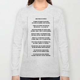 Parts of Speech Rhyme Long Sleeve T-shirt