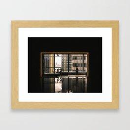woman on 12 Framed Art Print