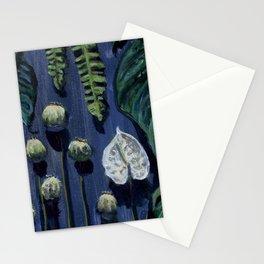 Blue Botanical Stationery Cards
