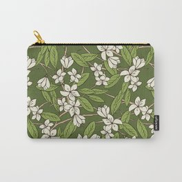 Sakura Branch Pattern - Greenery Carry-All Pouch