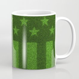 The grass and stripes / 3D render of USA flag grown from grass Coffee Mug