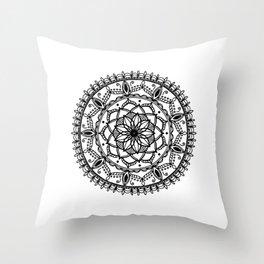 Indie Mandala Throw Pillow