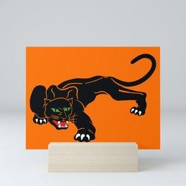 Big Hungry, Black Cat With Green Eyes Mini Art Print