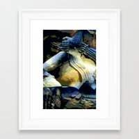 stone Framed Art Prints featuring Stone by Stephen Linhart