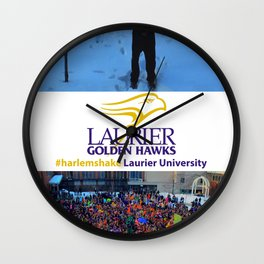 Laurier University #harlemshake Wall Clock