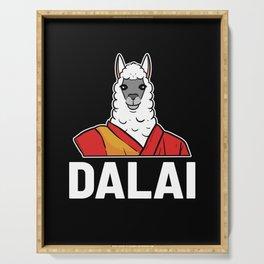 Vintage Dalai Lama Retro Llama Animal Hipster Gift Serving Tray