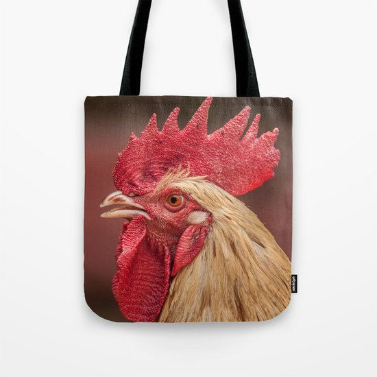 red and white hen coq Tote Bag