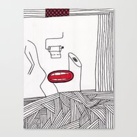 toilet Canvas Prints featuring toilet by DAMlab