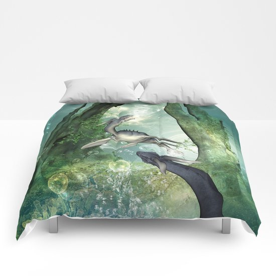 Awesome seadragon Comforters