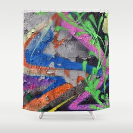 Color Entropy III Shower Curtain