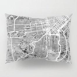 San Francisco City Street Map Pillow Sham