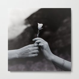 Love in Hands Metal Print