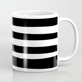 Black and White Stripes Abstract Modern Coffee Mug