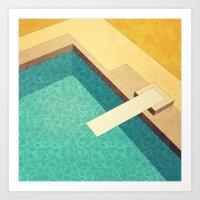 pool Art Prints featuring Pool by Herb Vaine