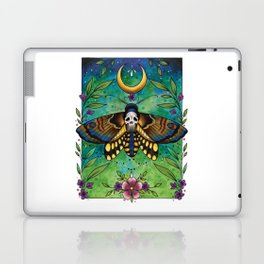 Neo Traditional Deaths-head moth Laptop & iPad Skin