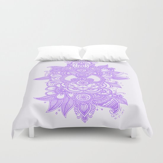 Purple Henna Duvet Cover By Haleyivers