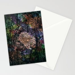 Colored lichens Stationery Cards