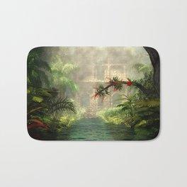 Lost City in the jungle Bath Mat